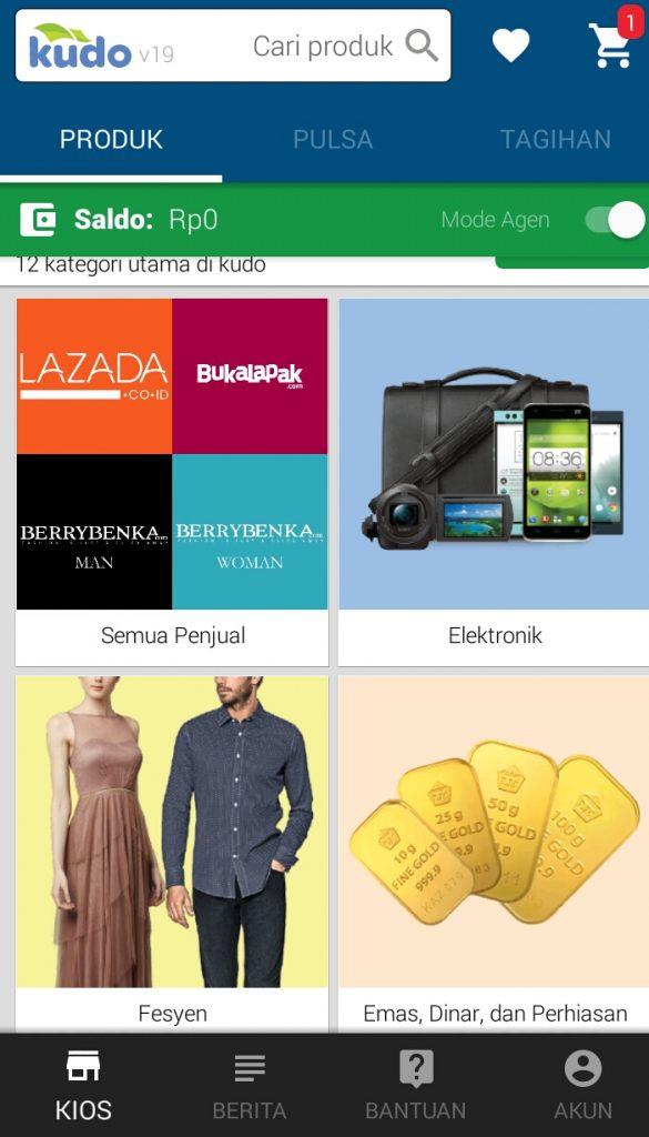 Kudo produk Lazada Indonesia