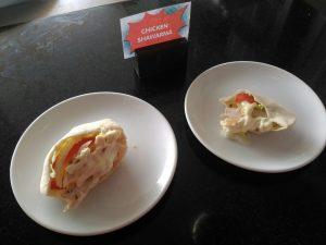 Shawarma kebab hasil karya chef di Harris Hotel