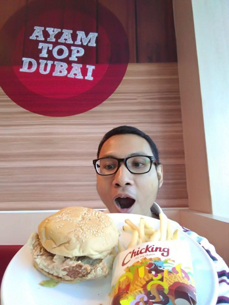 Burger ayam tandoori