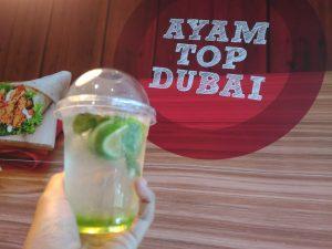 minuman segar Green Apple Dubai Breeze