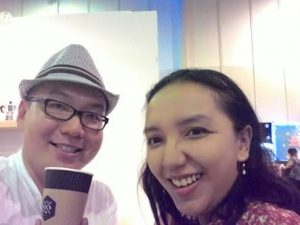 Vicky Laurentina with Jie Kusumo