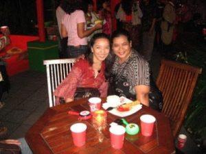 Vicky Laurentina with Manda Roosalina