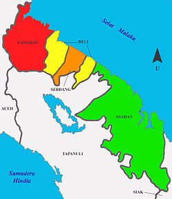 Lokasi Kesultanan Deli