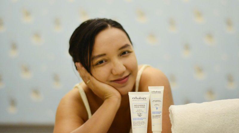 kulit sehat dengan pelembab dan sabun muka untuk kulit kering