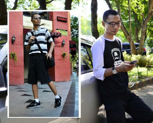 Style kaos hitam putih