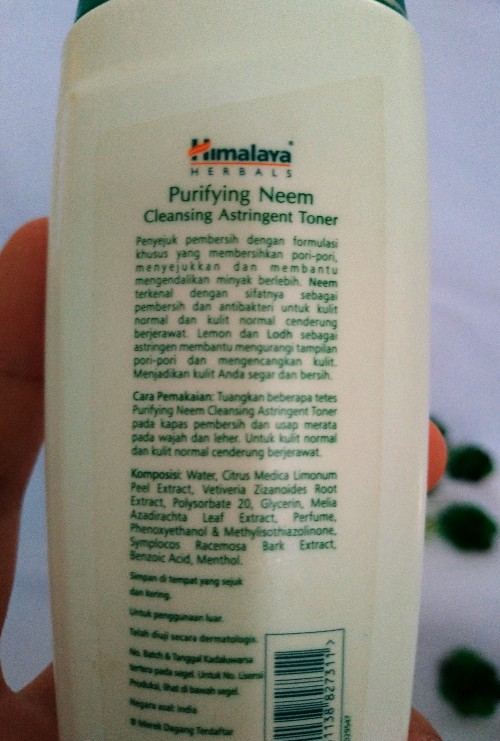 Himalaya toner ingredients