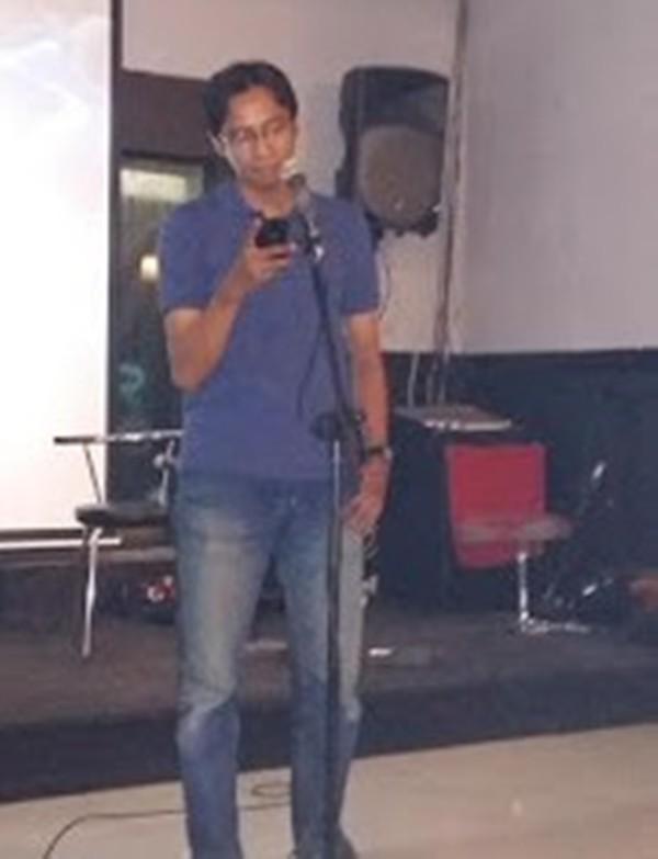 Ilham, contoh salah satu penampil di acara komunitas Kotajancuk Gambar diambil dari sini