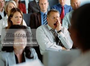 Mengantuk di tengah seminar/konferensi bisa terjadi pada siapa saja. Tidak terkecuali pada pejabat sekalipun. Gambar diambil dari sini