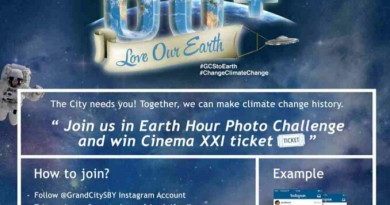Earth Hour di Grand City Surabaya