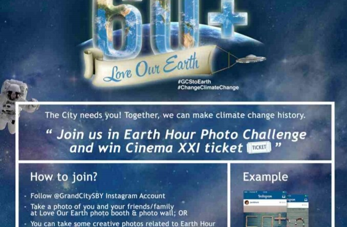 Earth Hour di Grand City Surabaya