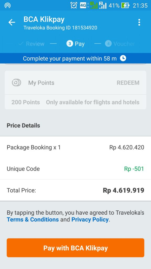 Cara pesan tiket di Traveloka App