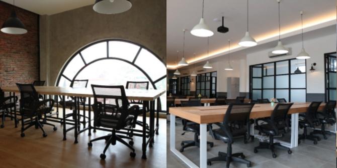 coworking space EV Hive meja kerja minimalis