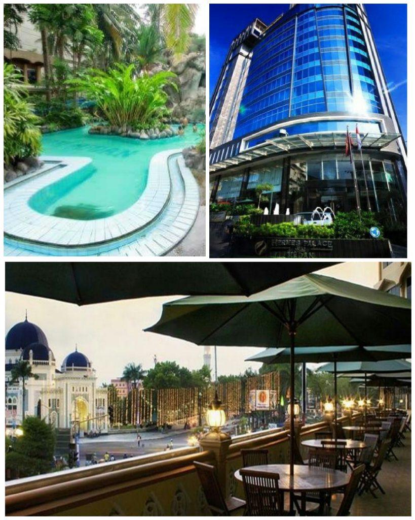 Hotel di Medan: Danau Toba Medan (hotel bintang lima di Medan), Hermes Hotel (hotel bintang tiga di Medan), Madani Hotel Medan (hotel bintang empat di Medan)