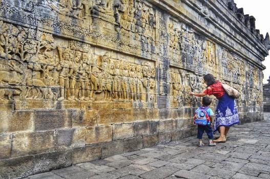 relief Lalitavistara Candi Borobudur
