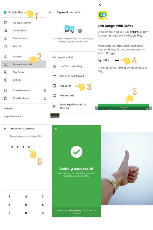 Cara setting GoPay untuk bayar Google Play